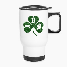 Boston Massachusetts Ireland Shamrock  Bottles & Mugs