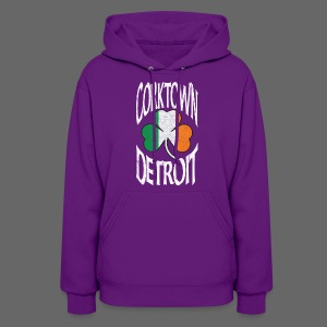 Corktown Detroit Shamrock Irish Flag - Women's Hoodie