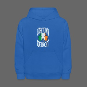 Corktown Detroit Shamrock Irish Flag - Kids' Hoodie