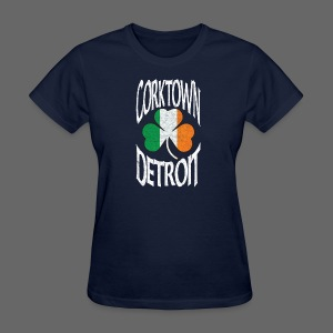 Corktown Detroit Shamrock Irish Flag - Women's T-Shirt
