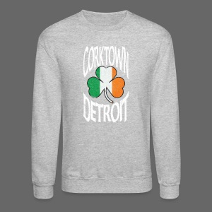 Corktown Detroit Shamrock Irish Flag - Crewneck Sweatshirt