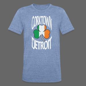 Corktown Detroit Shamrock Irish Flag - Unisex Tri-Blend T-Shirt