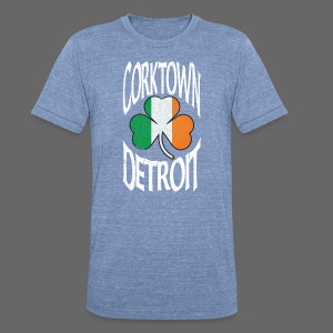 Corktown Detroit Shamrock Irish Flag - Unisex Tri-Blend T-Shirt by American Apparel