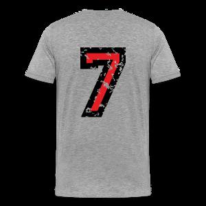 Number Seven T-Shirt No.7 (Men Grey) Back - Men's Premium T-Shirt