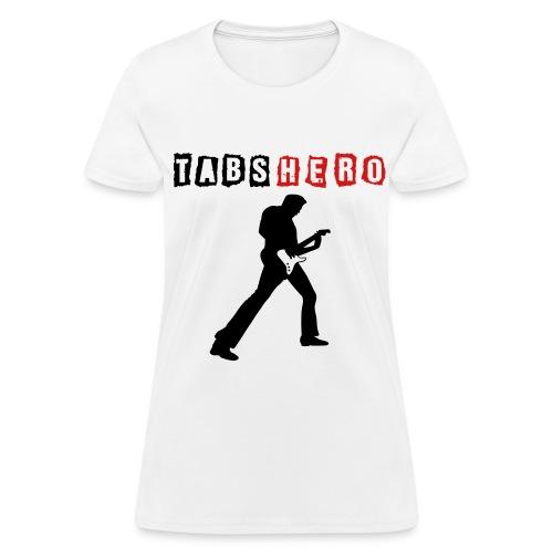 Tabs Hero White Women Shirt - Women's T-Shirt