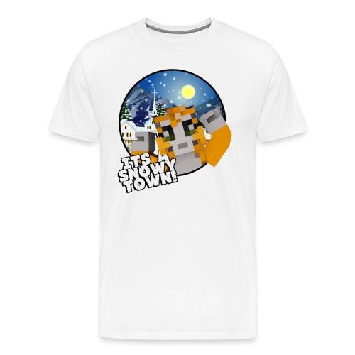 It's A Snowy Town - Men's T-shirt  - Men's Premium T-Shirt