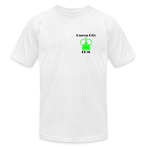 Black Block Logo Front/Flag Back - Men's  Jersey T-Shirt