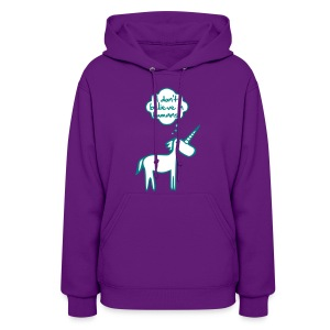 dont believe in humans womens hoodie - Women's Hoodie