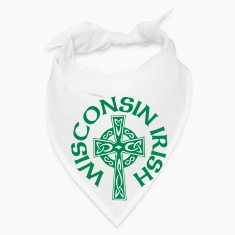 Wisconsin Irish Celtic Cross Apparel Clothing Tee Caps