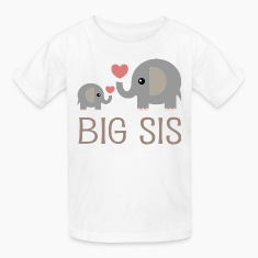 Big Sis Elephants Kids' Shirts