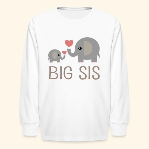 Big Sis Long Sleeve T-shirt (Elephants) - Kids' Long Sleeve T-Shirt