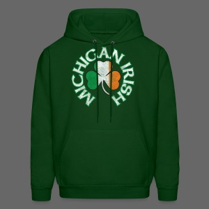 Michigan Irish Shamrock Flag - Men's Hoodie