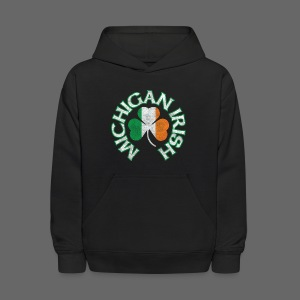 Michigan Irish Shamrock Flag - Kids' Hoodie