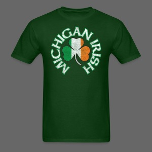 Michigan Irish Shamrock Flag - Men's T-Shirt