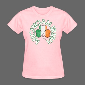 Michigan Irish Shamrock Flag - Women's T-Shirt
