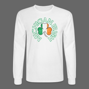 Michigan Irish Shamrock Flag - Men's Long Sleeve T-Shirt