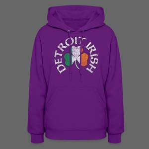 Detroit Irish Shamrock Flag - Women's Hoodie
