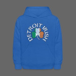 Detroit Irish Shamrock Flag - Kids' Hoodie