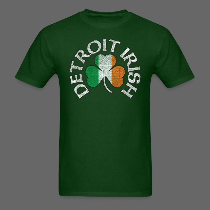 Detroit Irish Shamrock Flag - Men's T-Shirt