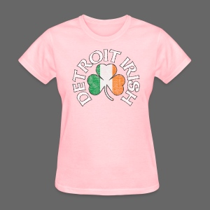 Detroit Irish Shamrock Flag - Women's T-Shirt
