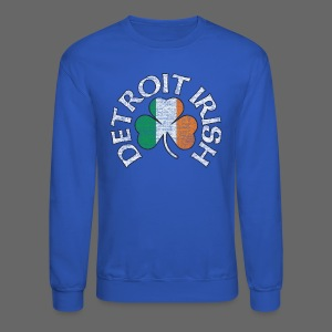 Detroit Irish Shamrock Flag - Crewneck Sweatshirt