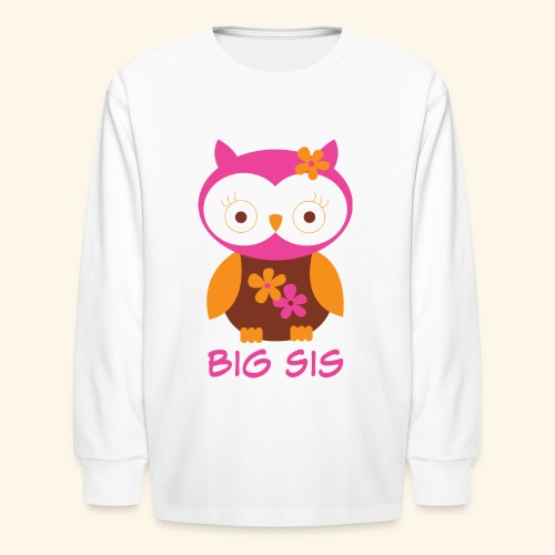 Big Sister Owl Long Sleeve Kids T-shirt - Kids' Long Sleeve T-Shirt