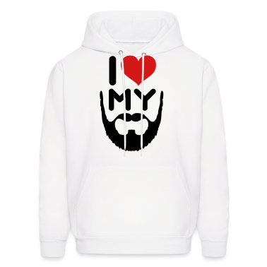 I Love My Beard Hoodies