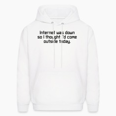 Internet Was Down Hoodies