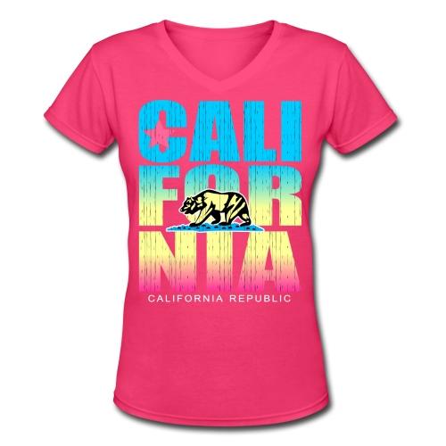 California Republic - Women's V-Neck T-Shirt