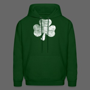 Distressed Irish Shamrock  - Men's Hoodie