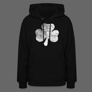 Distressed Irish Shamrock  - Women's Hoodie