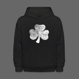 Distressed Irish Shamrock  - Kids' Hoodie