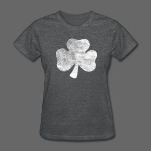 Distressed Irish Shamrock  - Women's T-Shirt