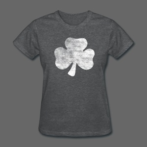 Distressed Irish Shamrock  - Women's T-Shirt