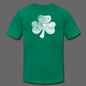 Distressed Irish Shamrock  - Men's T-Shirt by American Apparel