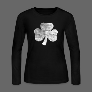 Distressed Irish Shamrock  - Women's Long Sleeve Jersey T-Shirt