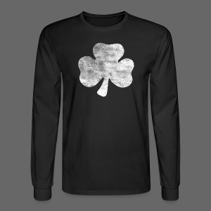 Distressed Irish Shamrock  - Men's Long Sleeve T-Shirt