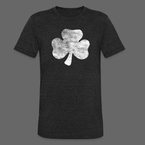 Distressed Vintage Irish Shamrock  - Unisex Tri-Blend T-Shirt