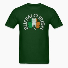 buffalo_irish_shamrock_flag_clothing_apparel T-Shirts