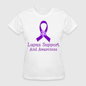 Lupus Support Awareness Ribbon Women's T-Shirts - Women's T-Shirt