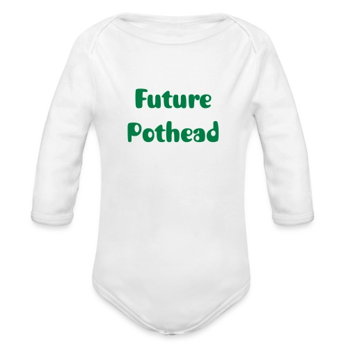 Future Pothead Baby Long Sleeve One Piece - Organic Long Sleeve Baby Bodysuit