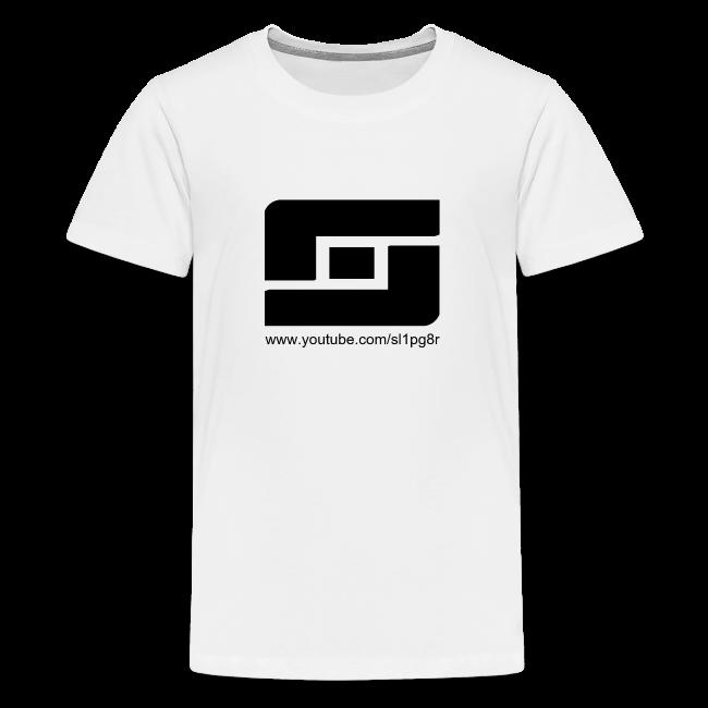 Kid's Sl1pg8r Logo Black T-Shirt