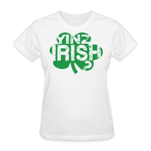 Women's Yinz Irish? Standard T - Green Text - Women's T-Shirt