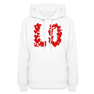 LOVE couple pair partner Heart Valentines Day gift Hoodies