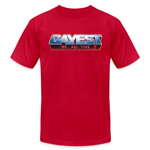 Gayest of All Time LOGO - Men's  Jersey T-Shirt