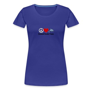 Peace.  Love.  Dolphins. (Second Grade) - Women's Premium T-Shirt