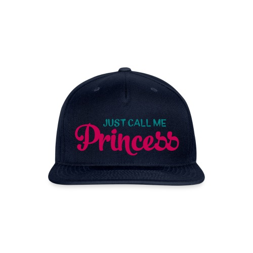 navy princess snap back - Snap-back Baseball Cap