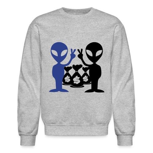 Doller Signs Alien Sweatshirt - Crewneck Sweatshirt