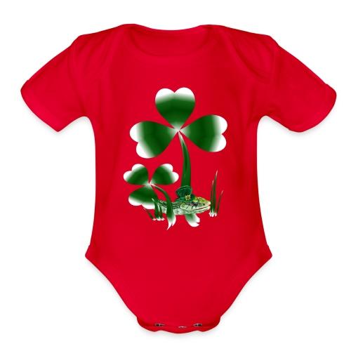Shamrocks N Snakes - Organic Short Sleeve Baby Bodysuit