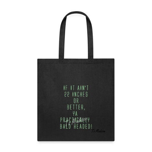 yA BALD HEADED - Tote Bag